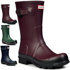 Mens Hunter Original Two Toned Short Wellingtons Snow Winter Rain Boots UK 6-12