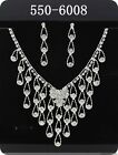 New1set Hot Rhinestone Bridal Wedding Prom Necklace& Earrings Jewellery 6008