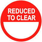Blank Reduced To Clear Price Point Stickers Sticky Swing Tag Labels 20mm to 45mm