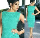 Fashion Women Embroidery  Lace Floral Evening Sexy Party Cocktail Bandage Dress
