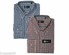 Gingham Check Long Sleeve Shirts Casual Country Wear S M L XL 2XL Blue & Red