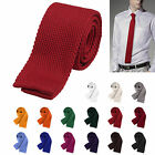 High Quality Men's Colourful Tie Knit Knitted Tie Slim Skinny Woven UK Seller