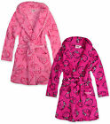 Girls Hello Kitty Dressing Gown Kids Soft Fleece Pink Robe New Age 3 4 6 8 Years