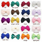"Baby/Girl Flower Grosgrain ribbon U Pick 5.7"" Big Hair Satin Bow Hair Clips"