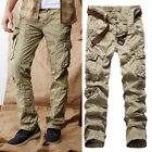 Fashion Military Men's Slim Fit Outdoor Multi-Pockets Long Pants Trousers 5 Size