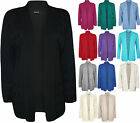 New Plus Size Womens Cut Out Open Long Sleeve Top Ladies Knitted Cardigan 16-22