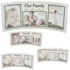 CURVED GLASS PHOTO PICTURE FRAME SILVER COLLAGE HOME MANTEL SET BOX GIFT STAND