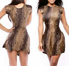 Women Sexy Bodycon Mini Dress Animal Printed Cocktail Evening Dress Clubwear