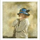 """SIR WILLIAM ORPEN """"Blue Hat"""" ON CANVAS ON CANVAS choose SIZE, from 55cm up, NEW"""