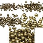 20 Antique Brass Metal Round Spacer Accent Beads Small - Big Plated Steel Metal