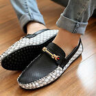 POP Manly Mens Comfy Leather Casual Non-slip Loafer Shoe Moccasins Driving Shoes
