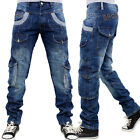 Brooklyn Mint Combat Cargo Patrol Mens Bar Jeans Time Is Loose Fit Hip Hop Money