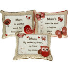 MUM CUSHION PILLOW LOVE CUDDLY MESSAGE GIFT SENTIMENTAL HOME DECO SWEET MOTHER