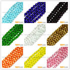 """Assorted Colors Fiber Optic Cat's Eye Round Beads For Jewelry Making 14"""" In Bulk"""