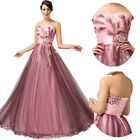 FREE SHIP Vintage Masquerade Evening Prom Party Bridesmaid Engagement Long Dress