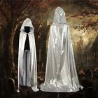 New Unisex Hooded Cloak Coat Wicca Robe Medieval Cape Shawl Halloween Party Z