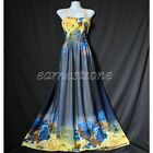 New Long Plus Size Chiffon Maxi Beach Party Bridesmaid Blue Dress XL 1X 2X 3X 4X