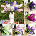 5 Head Artificial Hyacinth Fake Silk Flower Bush Bouquet Wedding Floral Home Dec
