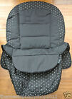 Mamas & Papas MIMI BLACK WHITE SPOT SWITCH SEAT COVER AND APRON / FOOTMUFF NEW