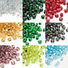 Huge Lot of 2,700 Glass Miyuki 4mm Metallic Silver Lined 5/0 Triangle Seed Beads