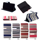 Hybrid Color Stripes PU Leather Flip Stand Case Cover Skin For 4.7'' iPhone 6