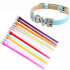Wholesale 8mm Snake PU Leather Wristband Bracelet Fit DIY Slide Charms Letters