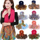 Women Lady Long Soft Cotton Voile Wrap Scarf Shawls Stole Hot Sell 7 Pattern