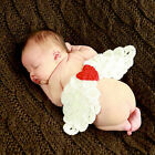 Cute Style costume angel wings + halo+ poster frame set for 6-18 month baby JRAU