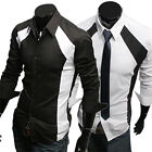 SLIM FIT DRESS SHIRTS MEN SUMMER STYLE PLAIN FORMAL CASUAL SHIRTS TOPS BUTTON