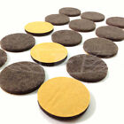 28mm, SELF ADHESIVE FELT GLIDE ROUND PADS BROWN PROTECT LAMINATE FLOORS SCRACHES