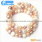 6-8mm Freshwater Pearl Strand Linking Bracelet Adjustables Size Fashion Jewelry