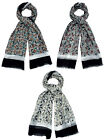 90900- Ladies Horse Theme Scarf 3 Colours- Gream, Grey/Red&Grey/Multi