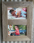 Barn Wood Reclaimed Rustic Style Double Photo Picture Frame (Many Colors!)