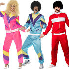 Adult 80s Tracksuit Shell Suit Scouser Mens Ladies Fancy Dress Sport Costume Wig