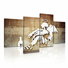 BANKSY Fallen Angel 1 Canvas 4A-RH Framed Printed Wall Art ~ 4 Panels
