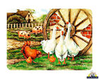 Glass Chopping Board Cartwheel Farm Animals Kitchen Worktop Saver Gifts
