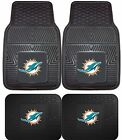 Kyпить Miami Dolphins Heavy Duty NFL Floor Mats 2 & 4 pc Sets for Cars Trucks & SUV's на еВаy.соm