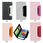 Cute Polka Dots PU Leather Wallet Flip Case Cover For Samsung Galaxy S5 V i9600