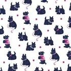 BESPOKE SCOTTIE - JEWEL NAVY / WHITE - MICHAEL MILLER COTTON FABRIC