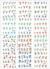 beauty Flower Design DIY Nail Art Tips Stickers Decal Wraps Acrylic Decorations