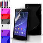S-Line Silicone Gel Case Cover Pouch For Sony Xperia Z3 & FREE Screen Protector