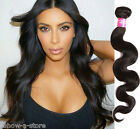 "3Bundles 300g 100% Malaysian Human Hair Weave Extension Black 10""-30"" Hot Wefts"