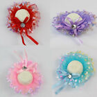 HOT Fashion Lace Bowknot Cap Bobby Pin Hairpin Hat Hair Clip For Kids Girls