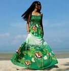 Prom Dress Plus Size Wedding Maxi Party Green Fancy Summer Coast  XL 1X 2X 3X 4X