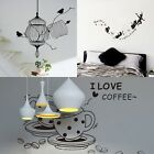 Birdcage Sofa Coffee Cup Vinyl Wall Sticker Decals TV Background DIY Home Decor