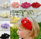 Vogue New High Quality Light Baby Girls Chiffon Bow Hairband Flower Bead On Sale