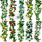 Artificial Silk Rose Flower Ivy Vine Leaf Hanging Garland Wedding Home Decor