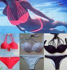 Sexy Women's Bandage Bikini Set Push-up Padded Bra Swimsuit Beachwear Swimwear