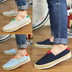 POP Mens Trendy Canvas Casual Lace Antiskid Loafer Shoes Moccasins Driving Shoes