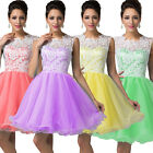 Quinceanera Lace Short Applique Colorful Homecoming Dresses Evening Party Gowns